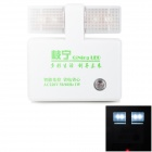 QiNing Auto Intelligent Induction Light Control 1w 4-LED 300lm White Night Lamp (US Plug)