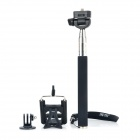 Fat Cat 3-in-1 Monopod for Camera / IPHONE / Samsung - Black + Silver