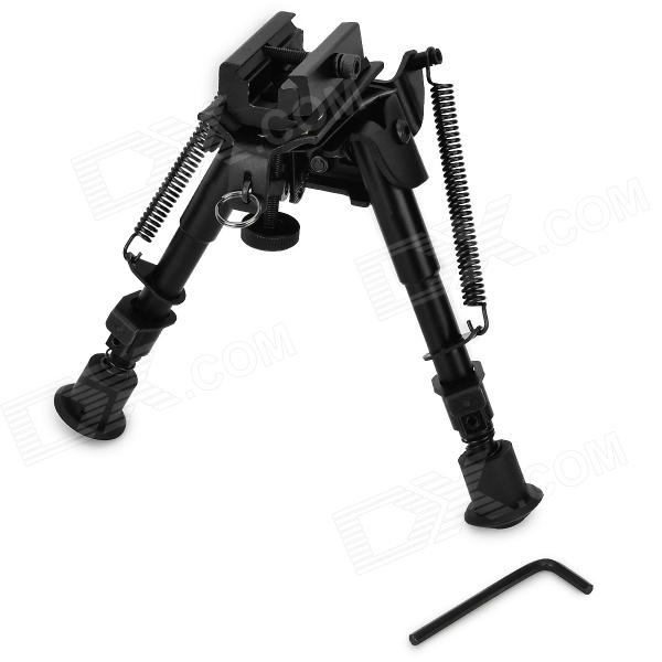 6 Aluminum Alloy Tactical Bipod w/ Extendable Leg for Guns - BlackBipods &amp; Monopods<br>Form  ColorBlackMaterialAluminum alloyQuantity1 DX.PCM.Model.AttributeModel.UnitGun TypeSuitable for AK, M16 and sporting guns.Mount TypeOthers,With two different connectionTypeBipodDeploy Height24cmFolding Height17.5cmExtendable LegsYesOther FeaturesSuitable for long-range shooting of heavy duty stun gun; with fast mount and rail adapter for convenient installation and use.Packing List1 x Bipod1 x 21mm rail adapter1 x Wrench<br>