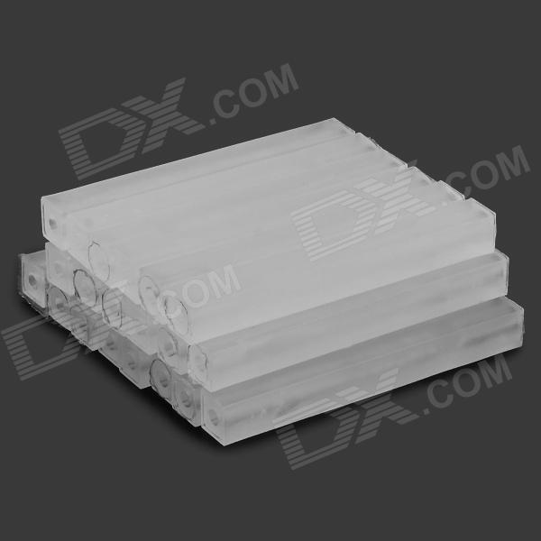 T-4-20 Plastic DIY Model Isolating Bars / Rods - White (20 PCS)