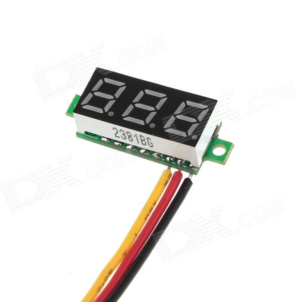 YBTJ03 0.28 3-digit 7-segment Yellow Light Digital Voltmeter Header - Black (DC 0~100V) 0 36 3 digit blue light 7 segment voltmeter module black green 3 2 30v