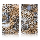 ENKAY Leopard Print Protective PU Leather Case Cover Stand w/ Card Slot for Samsung Note 3 - Yellow