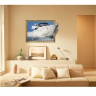 3D Boat Art Wall Decals / Removable PVC Wall Sticker - White + Blue
