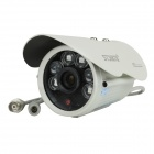 "Stjiatu ST399 1/4"" COMS 900-Line PAL Surveillance Security Camera w/ 6-IR LED, Power Adapter, Holder"