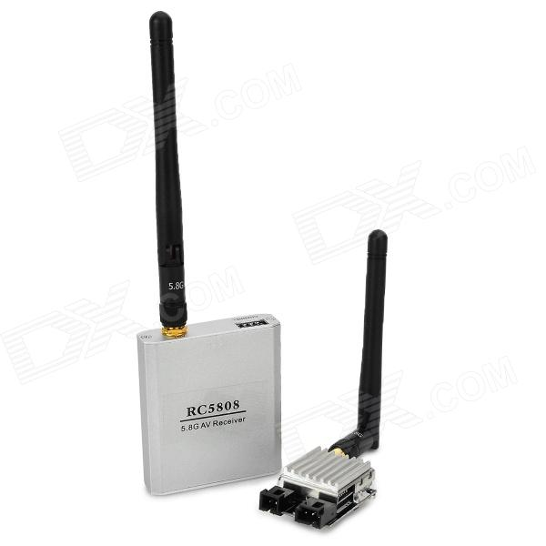 RC5808 200mW 5.8GHz Audio / Video sender + mottaker for 8-CH R / C Helikopter - Silver + Gul