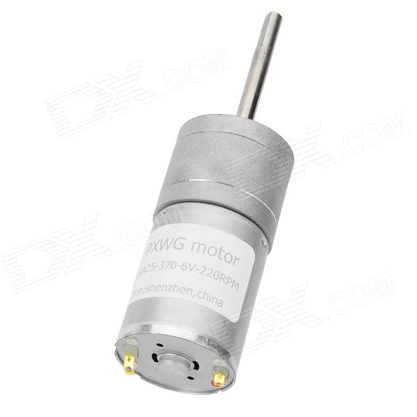 370-6V 1.5W + Hierro Cobre Motor para Smart Car Model + Más - Blanco + plata