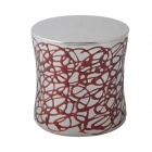 AYA-L09 Creative Epoxy-painted Stainless Steel Storage Tank - Red + Silver
