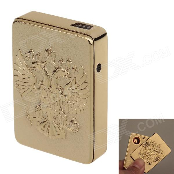 1917 Aluminum Alloy Dragon USB Rechargeable Lighter - Golden (5V)
