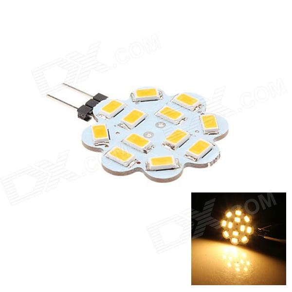 G4 3W 80lm 3000K 12 x SMD 5630 LED Warm White Light Lamp - (DC 12V)