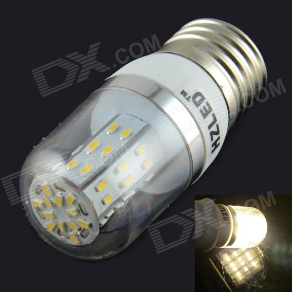 HZLED E27 4W 350lm 3000K 48 x SMD 3014 LED Warm White Light Corn Lamp - White (AC 85~265V) kinfire circular 6w 420lm 6500k 30 x smd 3528 led white light ceiling lamp w driver ac 85 265v