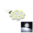 G4 3W 80lm 6500K 12 x SMD 5630 LED Warm White Light Lamp - White (DC 12V)