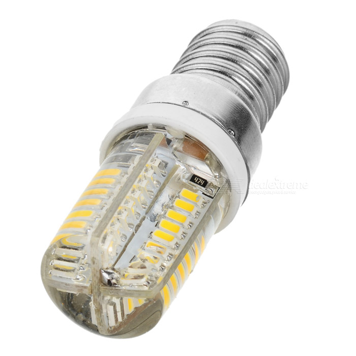 JRLED E14 5W 330lm 3300K 64-SMD 3014 LED Warm White Light Bulb (AC 220~240V) gc e14 3w 170lm 3000k 64 3014 smd led warm white light corn bulb ac 90 240v