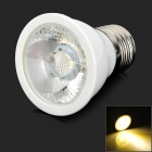 E27 5W 400lm 3000K COB LED Warm White Spotlight Lamp - White (AC 85~265V)