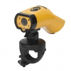 "T5000 1.5"" LCD 5.0 MP CMOS Outdoor Sport Mini Camcorder w/ 4 x LED + HDMI - Yellow"