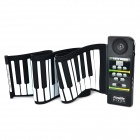 Convenient Flexible 61 Touch Key Piano w/ Speaker - Black + White (4 x AA)