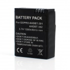 "AHDBT-301/302 High Capacity ""1300mAh"" Replacement Li-ion-Battery for GoPro Hero 3 / 3+ - Black"