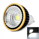 JRLED 5W 350LM 6500K 1-LED COB White Light Spotlight - White + Black (AC 85~265V)