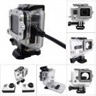 Side Open Protective Case w/ Individual Aluminum Alloy Strap Lens Ring for GoPro Hero 3+/3 - Silver