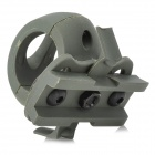 Plastic Helmet Flashlight Mount Holder - Army Green