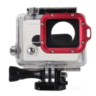 Side Open Protective Case w/ Individual Aluminum Alloy Lens Strap Ring for GoPro Hero 3+ / 3 - Red