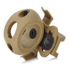 Plastic Helmet Flashlight Mount Holder - Khaki