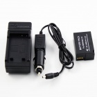 panasonic DMW-BLC12 1200mAh nytt batteri + lader for Panasonic DMC-GH2 - svart
