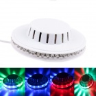 Sunflower RGB 8W 48LED Light 2-Mode Auto / Sound Control Stage Lamp - White