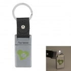6530 Four Leaves Zinc Alloy Gas Lighter w/ Keyring - Gray