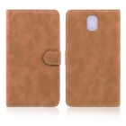 ENKAY Wallet Style Protective PU Leather Case for Samsung Galaxy Note III N9000 - Dark Brown