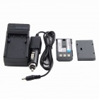 Replacement NB-2LH Battery + Charger for Canon DC 300 Series DC301, DC310, DC320, DC330 - Black