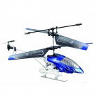 6602A Shockproof 3-CH  R/C Helicopter w/ IR Remote Control - Blue + Silver (6 x AA)