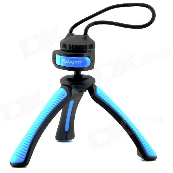 Fotopro SY310 Mini Table Tripod for Digital Camera with 1/4 Universal Screw Interface - Black +Blue fotopro rm 100 octopus style flexible mini tripod w head for digital camera blue