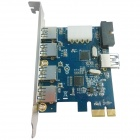 WBTUO LTU37P PCI-E 4-Port USB 3.0 + 1-Port USB 3.0 + USB 3.0 20 PIN Expansion Card for Desktop