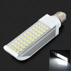 E27 9W 500lm 6000K 44-SMD 5050 LED White Light Lamp - White + Yellow (85~265V)