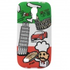 Italian National Flag + Leaning Tower of Pisa Pattern Protective TPU Case for Samsung i9190