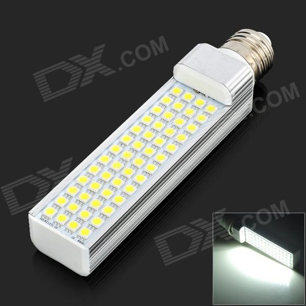 E27 10W 700LM 6000K 52-5050 SMD LED White Light Lamp - White + Yellow (AC 85~265V) r7s 15w 5050 smd led white light spotlight project lamp ac 85 265v