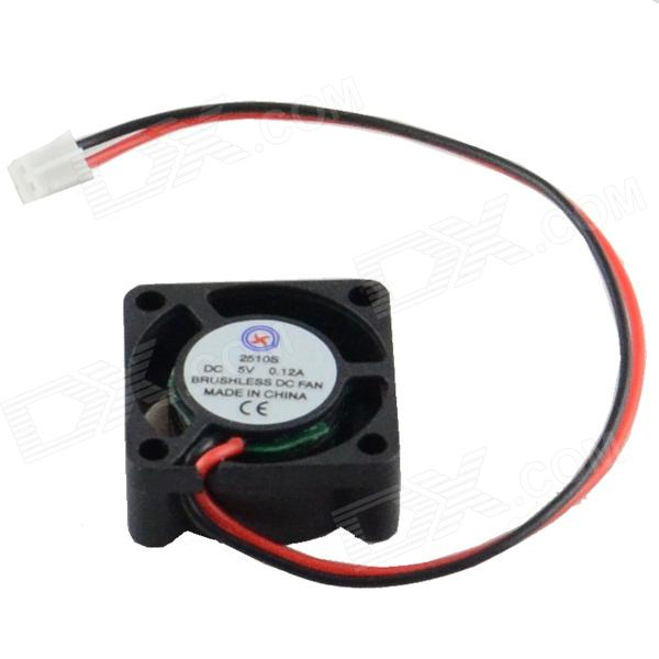 AV-0.12A 2-Pin HDD 5-Blade Cooling Fan - Black + Red (5V)