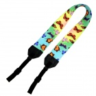 Stylish Butterfly Pattern Lightweight Strap for Digital Camera / DSLR Camera - Light Yellow + Blue