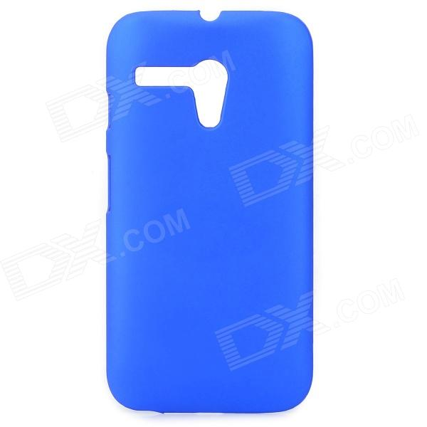 Protective Matte PC Case for MOTO G - Blue