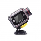 "ESER F24C 1.5"" TFT HD 2.0 MP CMOS Portable Outdoor Sport Waterproof Camcorder - Black"