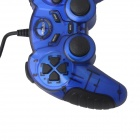Relax R-VS04 Dual-shock USB Vibration Gamepad Game Controller for PC Games - Blue + Black (175cm)