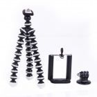 3-in-1 Mini Octopus Tripod for Digital Camera / Phone / GoPro Hero 1 / 2 / 3 / 3+ - Black + White