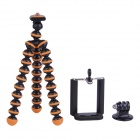 3-in-1 Mini Octopus Tripod for Digital Camera / Phone / GoPro Hero 1 / 2 / 3 / 3+ - Black + Orange