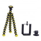3-in-1 Mini Octopus Tripod for Digital Camera / Phone / GoPro Hero 1 / 2 / 3 / 3+ - Black + Yellow