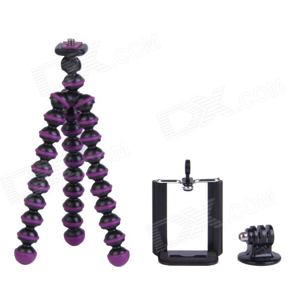 3-in-1 Mini Octopus Tripod for Digital Camera / Phone / GoPro Hero 1 / 2 / 3 / 3+ / SJ4000 - Purple