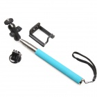 360 Degree Rotation 3-in-1 Adjustable Handheld Selfie Monopod for Gopro Hero 4/ / Cellphone - Blue