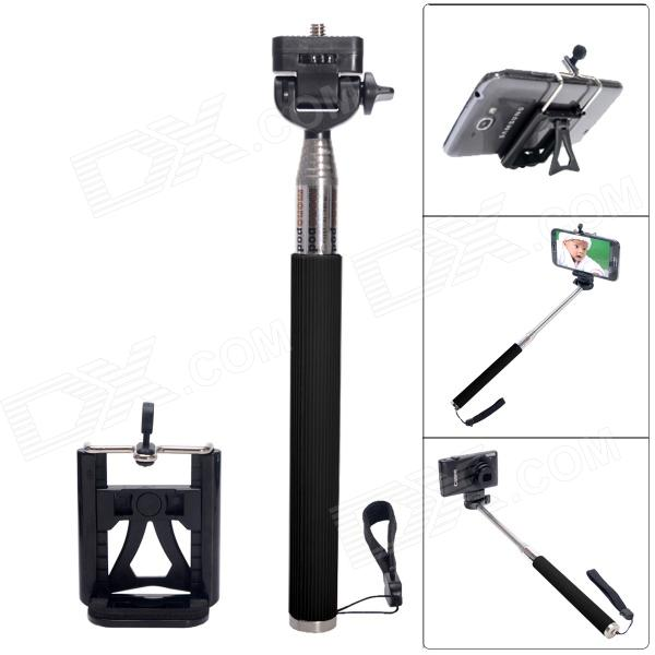 Fat Cat Portable Monopod for Camera + IPHONE + Samsung - Black