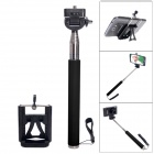 Fat Cat Portable Monopod for Camera + SJ4000 + IPHONE + Samsung Galaxy S5 / S4 / Note 3 / 2 - Black