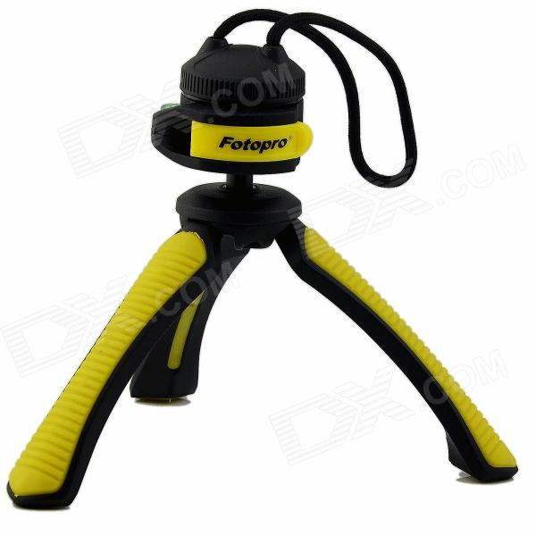 Fotopro SY310 Mini Table Tripod for Digital Camera with 1/4 Universal Screw Interface - Yellow fotopro rm 100 octopus style flexible mini tripod w head for digital camera blue