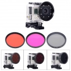 Fat Cat Professional 58mm Underwater Color-Correction Red +Magenta Dive Filter + CPL for GoPro Hero3